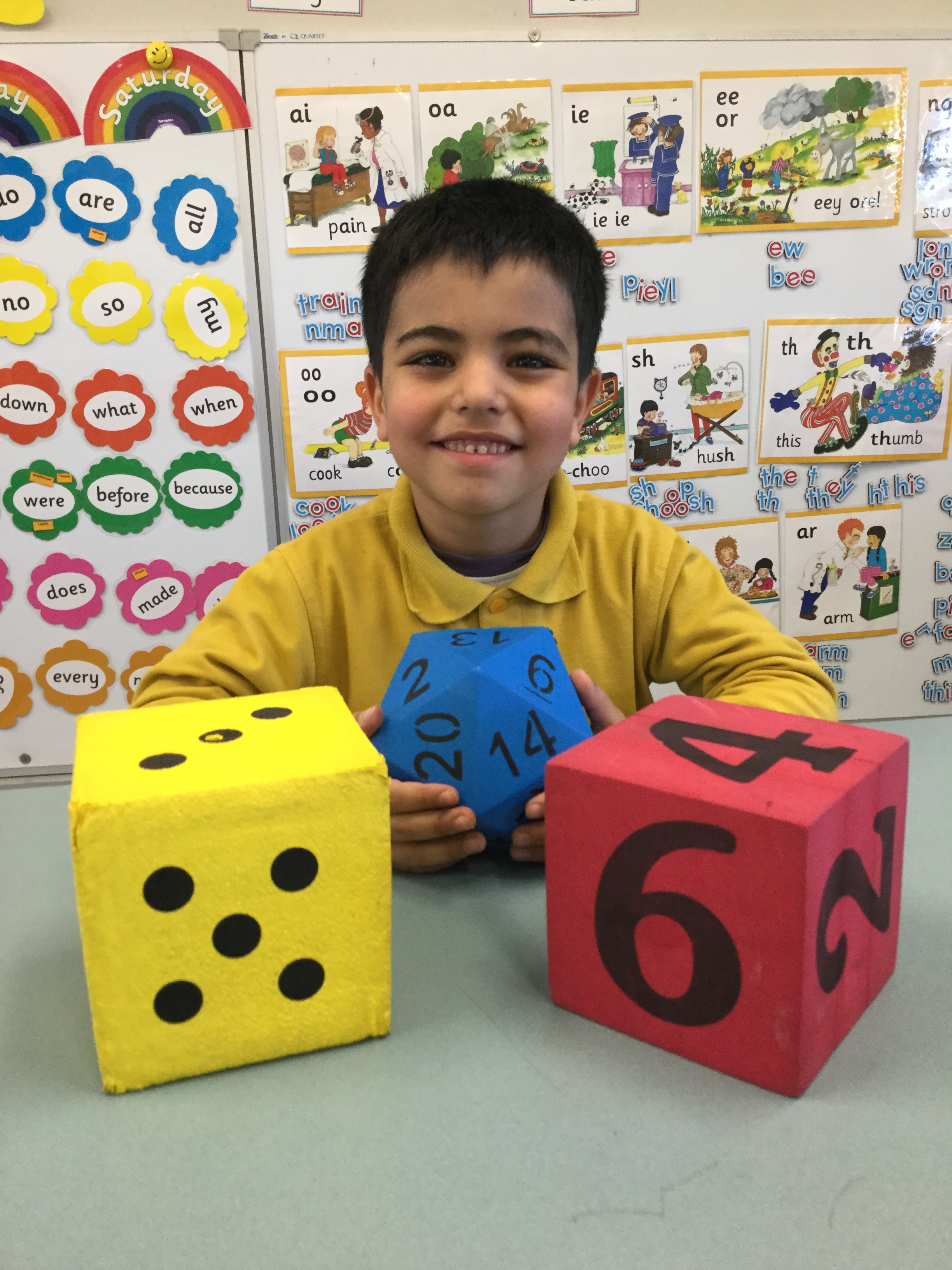 Adding dice in Maths